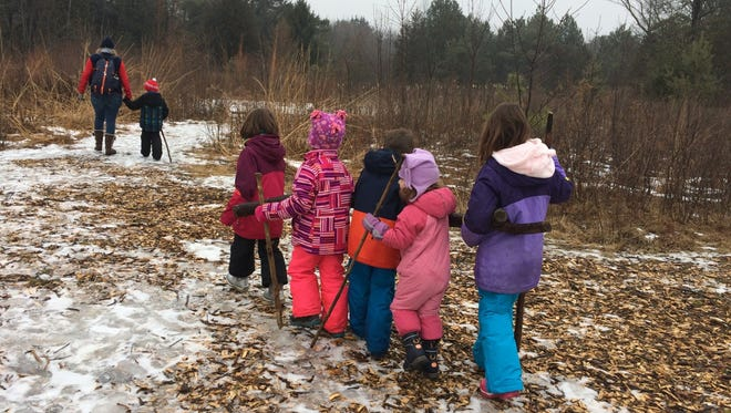 Amber Storm loves taking her kids, all four of them, on hikes, even in winter.