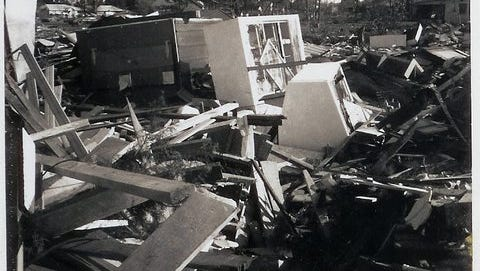 Ashley's Cash and Carry Grocery in Kilboure was demolished in a March 1976 tornado.