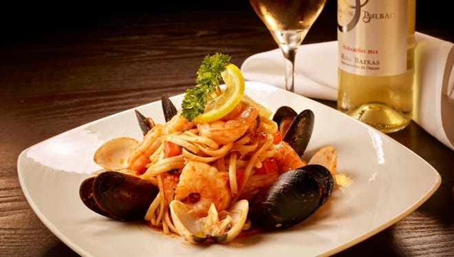The Fruti di Mare pasta dish includes linguine tossed with shrimp, mussels, baby clams and calamari in a marinara sauce with a touch of white wine at Divieto Ristorante in Coconut Point.