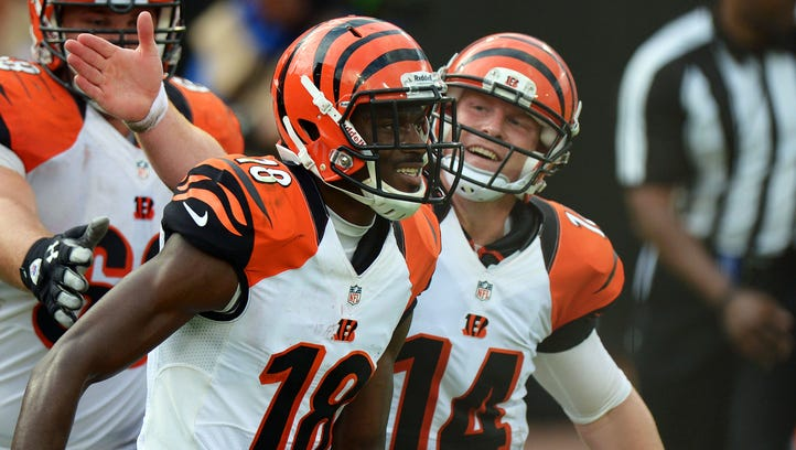 Bengals WR A.J. Green (18) and QB Andy Dalton have been to the playoffs in all five years of their NFL careers.