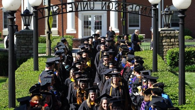 Anderson University typically has sunny spring weather for commencements, but Saturday's forecast has convinced university officials to move the event inside to NewSpring Church.