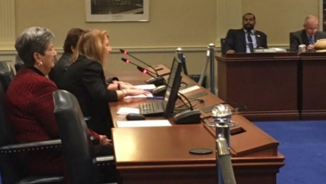 Delegate Carozza testifies in support of House Bill 581 before the House Ways and Means Committee.