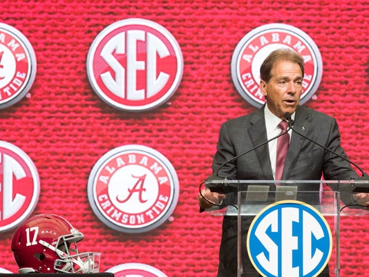 Alabama at SEC Football Media Days