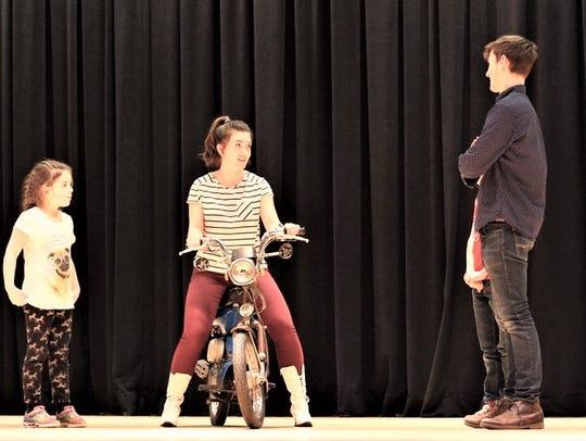 Chitty Chitty Bang Bang rehearsal.