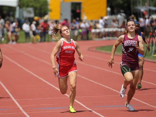 Indian Hill's Anna Podojil wins the girls 200-meter