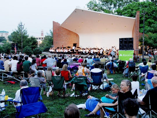 The Nashville Symphony outdoor concert series, which takes place at various Middle Tennessee locations,  is popular with all ages.