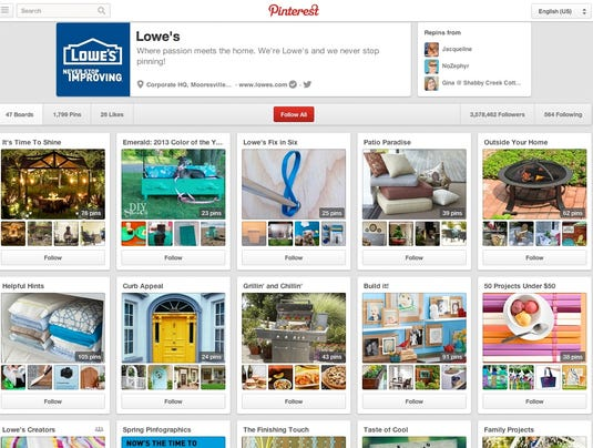 Lowe's Pinterest Page