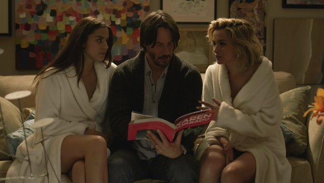 Keanue Reeves plays Evan, a married father who lets two women into his home during a storm.
