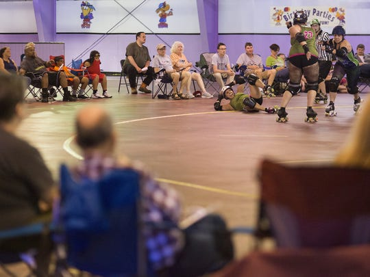 It's BYOS - bring your own seat for York City Derby Dames' home bouts at Roll 'R' Way Family Skating Center in York.