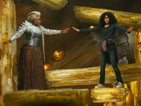 Oprah Winfrey, left, plays Mrs. Which opposite Storm Reid as Meg Murry in 'A Wrinkle in Time.' Winfrey calls her celestial character sort of a Glinda the Good Witch imbued with the wisdom of Maya Angelou.