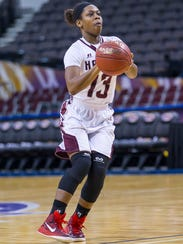 UMES senior guard Jessica Long during the 2015 MEAC