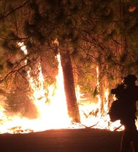 Firefighters battle California wildfires
