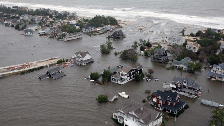 Hurricane Sandy flooded the New Jersey shoreline in