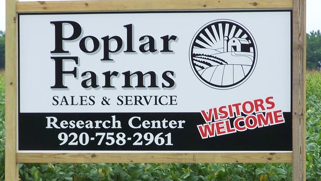 Visitors are welcome at the corn, soybean and alfalfa plots sponsored by Poplar Farms Sales & Service along Middle Road in Manitowoc County.