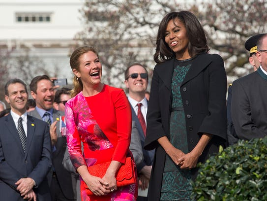 First lady Michelle Obama and first lady of Canada