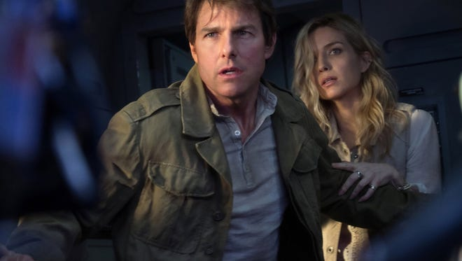 "Tom Cruise and Annabelle Wallis in ""The Mummy."""