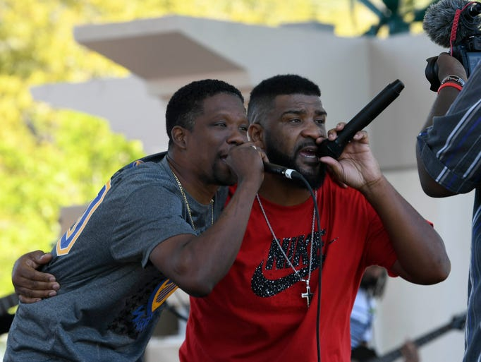 KD3 and Wingy perform for the crowd during the Spring