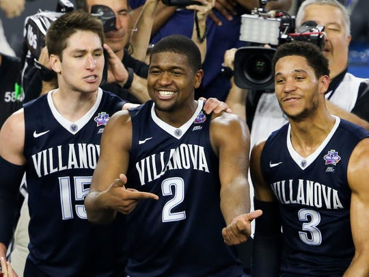 With Kris Jenkins (center) and Josh Hart (right) back,