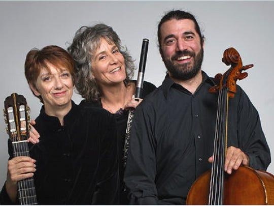 Pan Harmonia musicians Amy Brucksch, Kate Steinbeck and Franklin Keel.