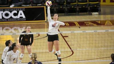 Macey Gardner needs 35 more kills to become Arizona State volleyball's career leader, breaking Christine Garner's 20-year record.