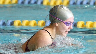 Scotch Plains-Fanwood's Rachel Maizes swims the breast stroke during the 200 IM during the Public B championship on Feb. 22, 2015.