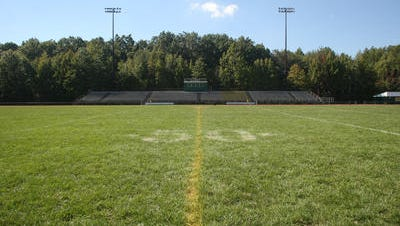 Football field at JP Stevens High School in Edison