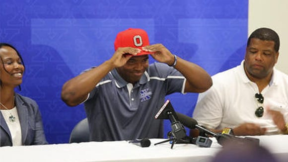 Justin Hilliard verbally committed to Ohio State on July 2 in front of a national ESPN online audience.