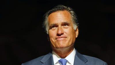 Mitt Romney speaks in Tempe in 2014.