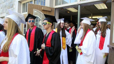Rye High School graduates at 2014 commencement.