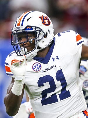 Kerryon Johnson isn't huge or blazing fast but he's a pounding, downhill runner.
