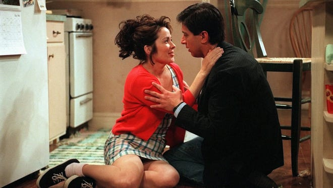 "Ray and Debra (Ray Romano and Patricia Heaton) recall their first kiss -- not too long after they first met, on the season finale of ""Everybody Loves Raymond"" in 1999."