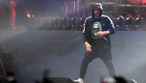 April 22, 2018; Indio, CA, USA; Eminem performs...