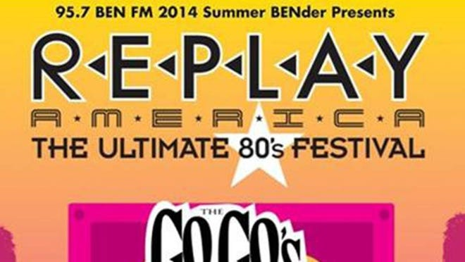 Replay America - The Ultimate 80s festival flier.