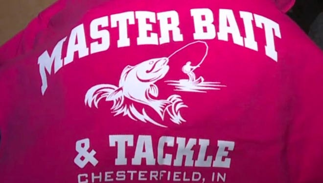 The owner of Master Bait and Tackle in Madison County hopes to sell many t-shirts.