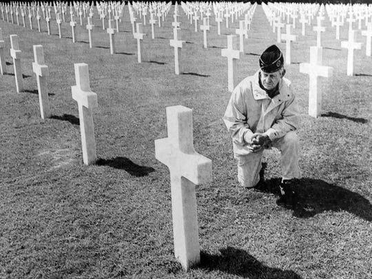 D-DAY veteran Harry Waechter in the Normandy American