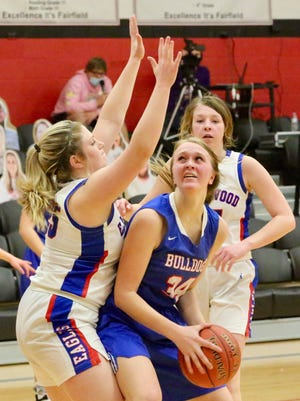 Pretty Prairie's McKenna Vogl scored a team-high 18 points for the Bulldogs in Thursday's 59-43 win over Ellinwood. Pretty Prairie will play Fairfield on Saturday for the Falcon Classic Championship.