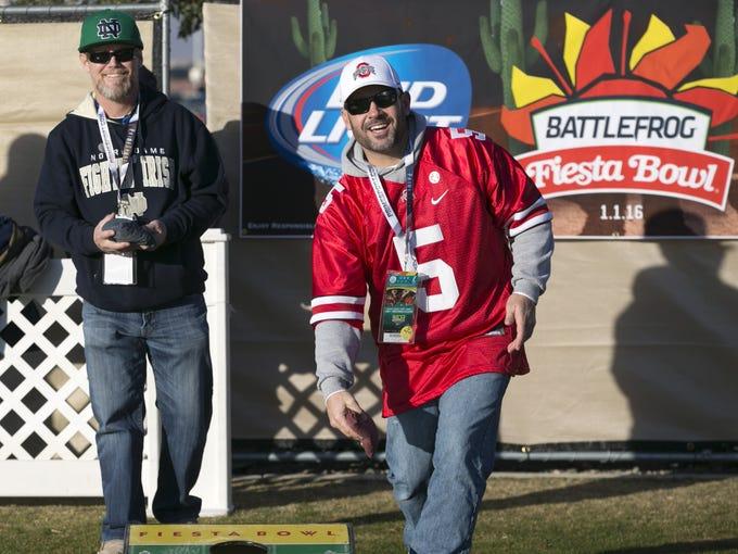 Ohio State fan Brian Saunders, of Queen Creek, Ariz.,