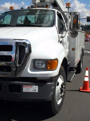 This city of Salem boom truck was involved in a crash