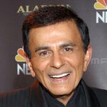 Casey Kasem poses for photographers after receiving the Radio Icon award during the 2003 Radio Music Awards in Las Vegas.