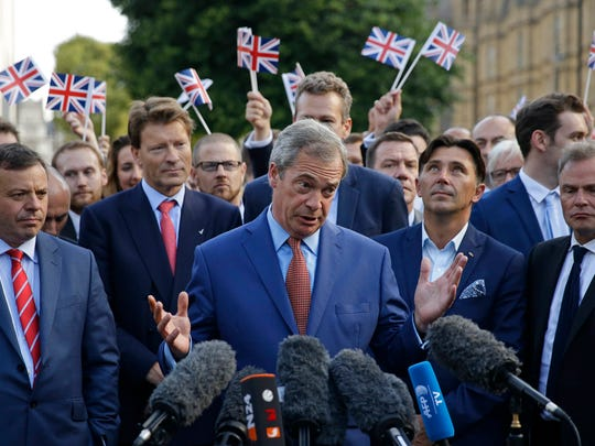 Nigel Farage, the leader of the U.K. Independence Party,
