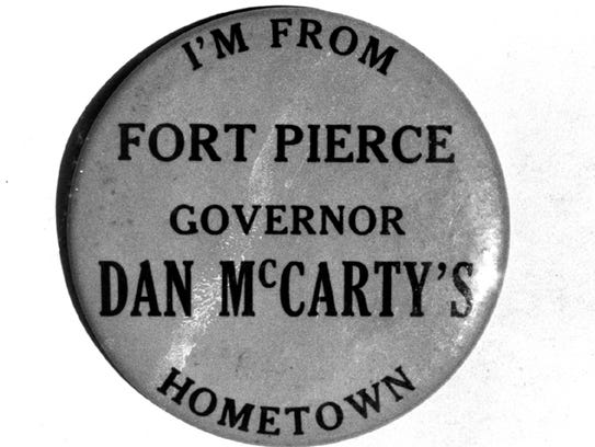 Dan McCarty, who died while serving as Florida's 31st