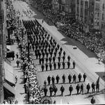 Parade on Main Street celebrating Rochester Centennial in 1934.