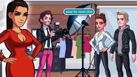 A screenshot from the game 'Kim Kardashian: Hollywood.'