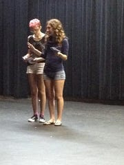 """""""Dorothy in Wonderland"""" cast members rehearse Tuesday"""