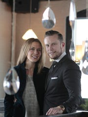 Jenna and Josh Miles in their popular University Avenue restaurant The Revelry in Rochester in December 2014.