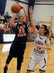 Hunter Middle School's Ryleigh Piotto elevates for