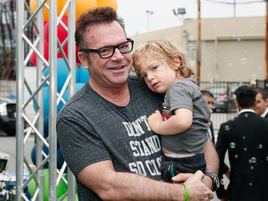 Actor Tom Arnold and son Jax Copeland Arnold attend Safe Kids Day 2016 on April 24, 2016, in Los Angeles.