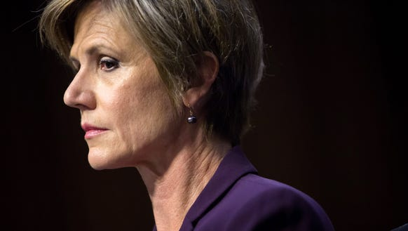 Former U.S. Deputy Attorney General Sally Yates testifies