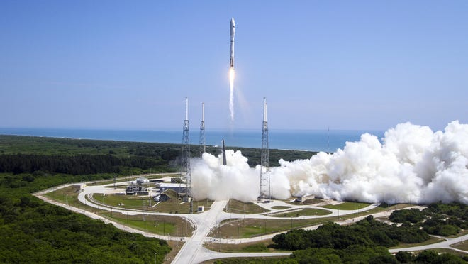 A United Launch Alliance Atlas V rocket lifts off from Cape Canaveral, Fla., on May 20, with the Planetary Society's LightSail Mission.