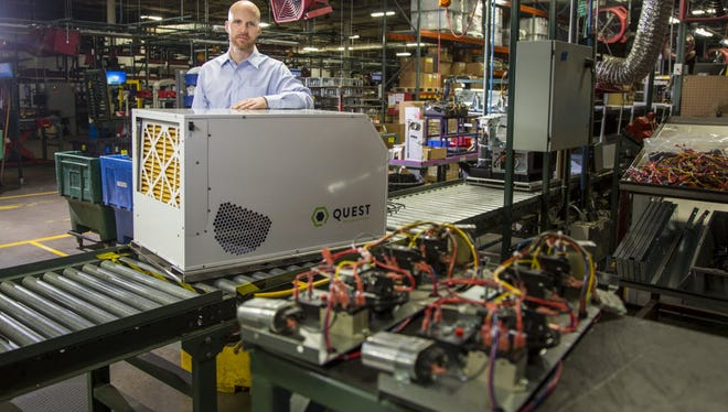 Quest dehumidifiers manufactured in Madison, Wis., are sold to marijuana growers in states that allow sale of the drug for medical or recreational use.